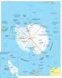 Mapa da região ártica Imagem de Stock Royalty Free