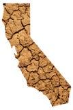 Mapa da seca de Califórnia Fotografia de Stock Royalty Free