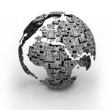 Mapa da tecnologia do mundo Fotos de Stock