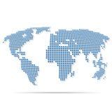 Mapa da terra com círculos Fotografia de Stock