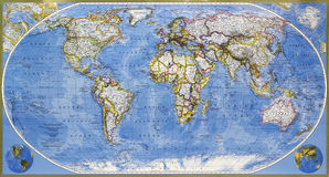Mapa da terra do planeta Fotos de Stock Royalty Free