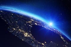 Mapa da terra do planeta rendição 3d Foto de Stock