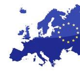 Mapa da União Europeia Imagem de Stock Royalty Free