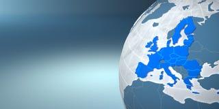 Mapa da União Europeia na terra Imagem de Stock Royalty Free