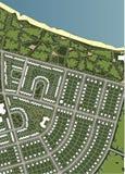 Mapa da vila Imagem de Stock Royalty Free