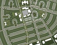 Mapa da vila Fotos de Stock Royalty Free