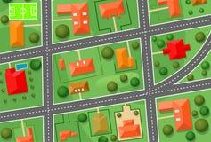 Mapa da vila da casa de campo Fotografia de Stock