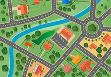 Mapa da vila do subúrbio Fotos de Stock Royalty Free