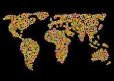 Mapa das flores Fotografia de Stock Royalty Free