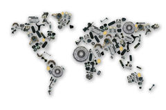 Mapa das peças sobresselentes para o mercado de acessórios ilustração stock