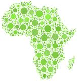 Mapa de África Imagem de Stock Royalty Free