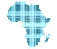 Mapa de África Imagen de archivo