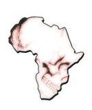 Mapa de África bajo la forma de cráneo Imagenes de archivo