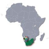 Mapa de África con Suráfrica Fotografía de archivo libre de regalías