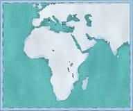 Mapa de África, cursos ilustrados tirados da escova, mapa geográfico, física Cartografia, atlas geográfico ilustração royalty free