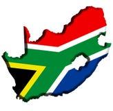 Mapa de África do Sul Fotos de Stock