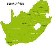 Mapa de África do Sul ilustração do vetor
