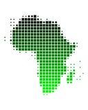 Mapa de África em quadrados verdes Foto de Stock Royalty Free