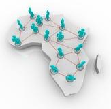 Mapa de África - rede dos povos Fotos de Stock