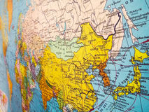 Mapa de Ásia Fotos de Stock Royalty Free