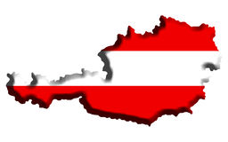 Mapa de Áustria imagens de stock