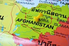 Mapa de Afeganistão fotografia de stock