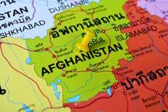 Mapa de Afganistán fotografía de archivo