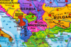 Mapa de Albânia Tirana Foto de Stock Royalty Free
