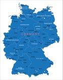 Mapa de Alemanha Ilustração do Vetor