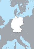 Mapa de Alemanha Fotos de Stock Royalty Free