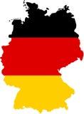 Mapa de Alemanha Fotografia de Stock
