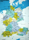 Mapa de Alemanha Foto de Stock Royalty Free