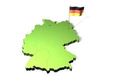 Mapa de Alemanha Imagens de Stock