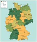 Mapa de Alemania con los territorios a elección Vector stock de ilustración