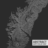 Mapa de alivio abstracto de la tierra del vector stock de ilustración