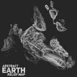 Mapa de alivio abstracto de la tierra del vector foto de archivo libre de regalías