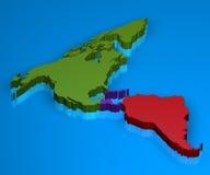 Mapa de América em 3D Fotos de Stock