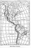 Mapa de América de uma enciclopédia Britannica do livro do vintage por A foto de stock royalty free