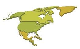 Mapa de America do Norte Foto de Stock