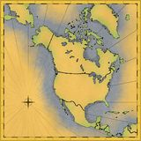 Mapa de America do Norte Imagem de Stock Royalty Free