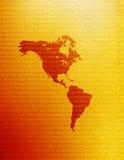 Mapa de Americas ilustração stock