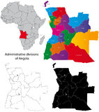 Mapa de Angola Fotografia de Stock Royalty Free