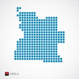 Mapa de Angola e icono de la bandera stock de ilustración