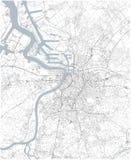 Mapa de Antuérpia, vista satélite, mapa preto e branco bélgica ilustração do vetor