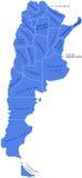 Mapa de Argentina Ilustração Stock