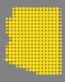 Mapa de Arizona stock de ilustración