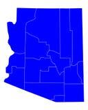 Mapa de Arizona ilustración del vector