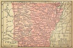 Mapa de Arkansas Foto de Stock Royalty Free