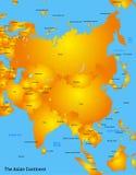 Mapa de Asia Fotografía de archivo libre de regalías