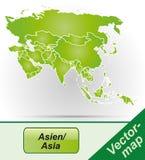 Mapa de Asia Foto de archivo libre de regalías